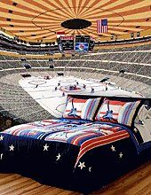 No game has the speed and intensity of hockey so why not bring this to same passion to your bedroom? Decorating ideas for sports themed bedrooms