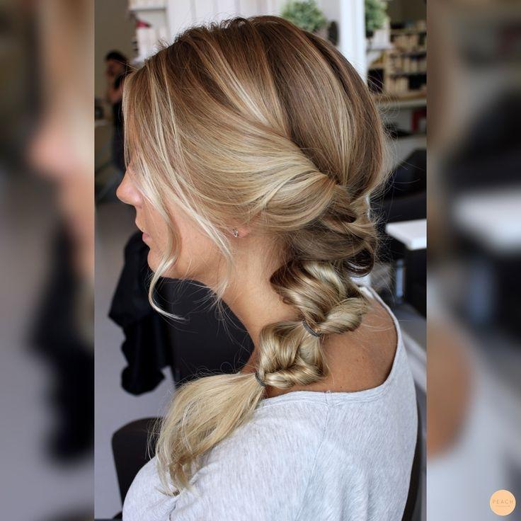 Messy braided hair
