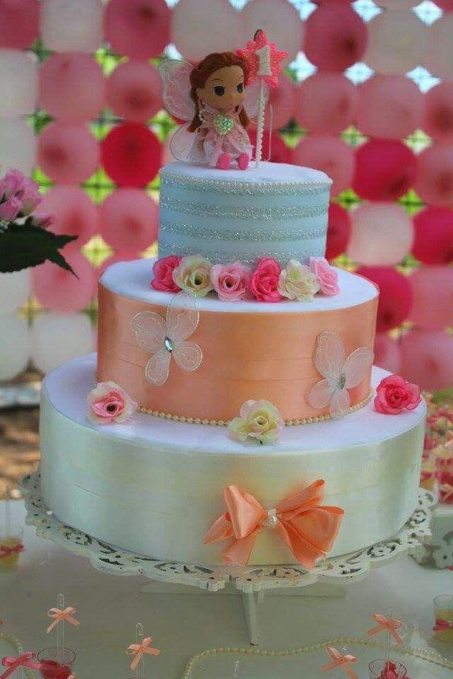 Decoração, aniversário infantil, menina bolo fake, 1aninho