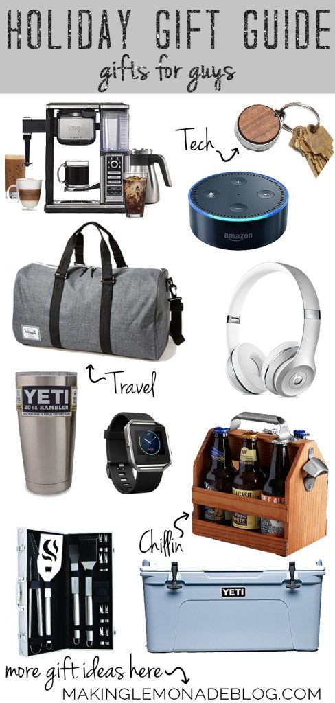 YAY, the annual holiday gift guides are here, and these have the best gift ideas yet! Top gifts for all the guys on your list: dads, bros, husbands, and sons included.