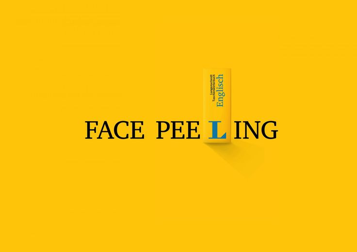 Langenscheidt: Face peeling   Ads of the World™