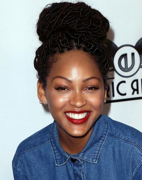 Best 25 megan good faux locs ideas on pinterest goddess faux omg her hair and makeup photos meagan good debuts new look at premiere of brotherly love debuting faux locs pmusecretfo Gallery