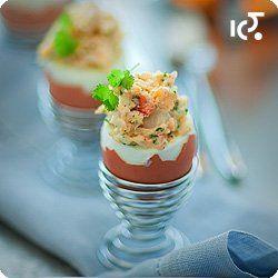 Jaja faszerowane krewetkami i kolendrą | Kwestia Smaku