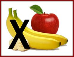 For the person with chronic kidney disease apples are okay, but bananas are not. They have too much potassium. If the kidneys are not working properly they are unable to regulate the amount of potassium the body needs. Too much potassium in the blood can cause heart irregularities.