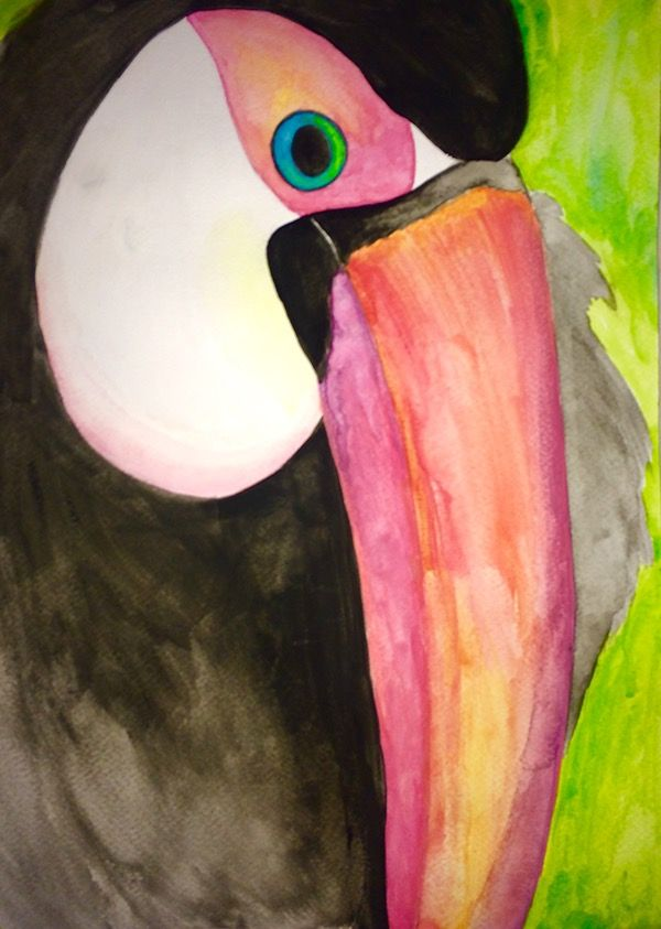 Watercolor toucan! Getting back at it #painting #watercolor #toucan #natute