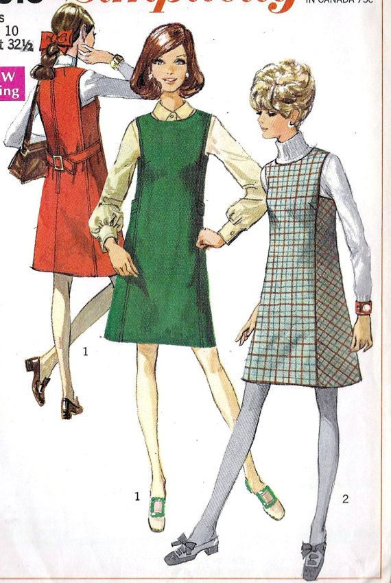 1960s Misses Jumper - I made one like this in 7th grade home economics class.