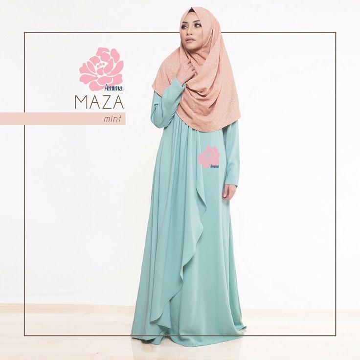 Gamis Amima Maza Dress Mint - baju muslim wanita baju muslimah Untukmu yg cantik syari dan trendy . . Size: S ---> LD 94 | PJG 137 M ---> LD 100 | PJG 140 L ---> LD 106 | PJG 140 . . Detail : - Material : Crepe HQ Bahannya flowy dan ringan cocok untuk acara formal tapi bisa jadi pilihan untuk daily dgn memakai hijab #sabinaINSTAN yang simpel!- Dress dengan aksen layer di bag depan pas buat wisuda atau ke acara formal lain. - Model kerah bulat Zipper depan perfect for #busuifriendly…