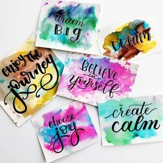 3 simple techniques to create watercolour backgrounds using Tombow Dual Brush pens for hand lettering, crafts, cards, and more