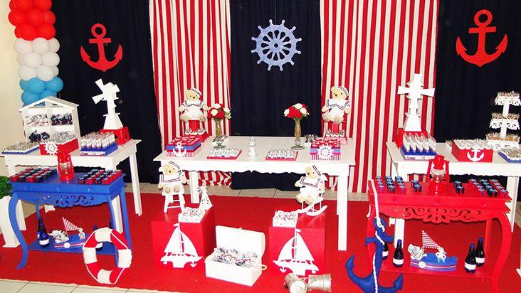 Decoração de marinheiro para aniversário de gêmeos   Disney Babble Brasil