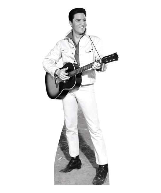 Elvis Black & White Jacket Cardboard Cutout