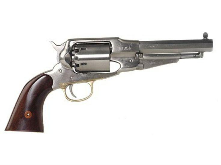 "Uberti 1858 Remington Steel Frame Black Powder Revolver 44 Caliber 5-1/2"" Stainless Steel Barrel"