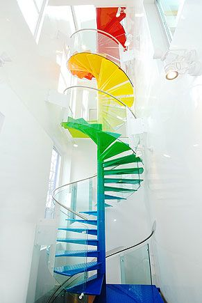 colorful staircase...