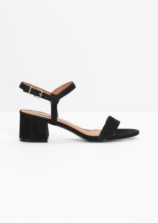 & Other Stories | Suede Mid Heel Sandals