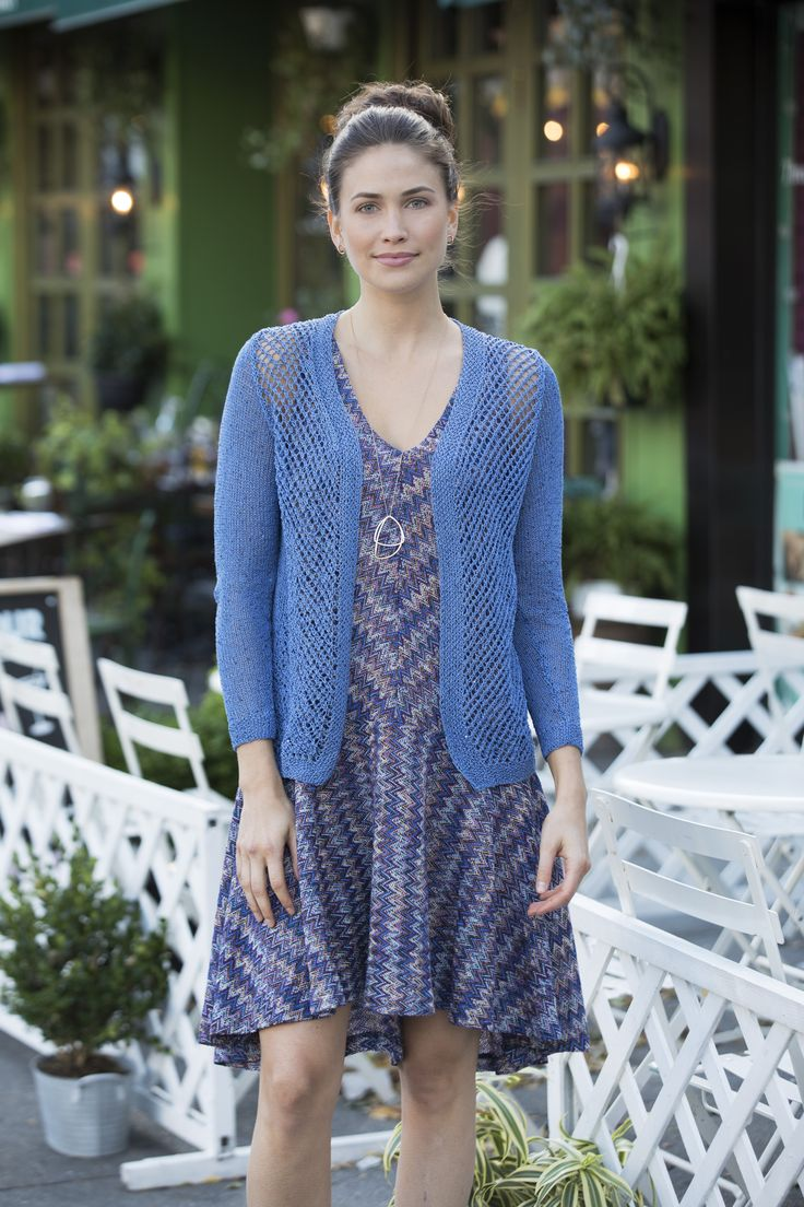 Clarkson Cardigan in Stacy Charles Fine Yarns Flora