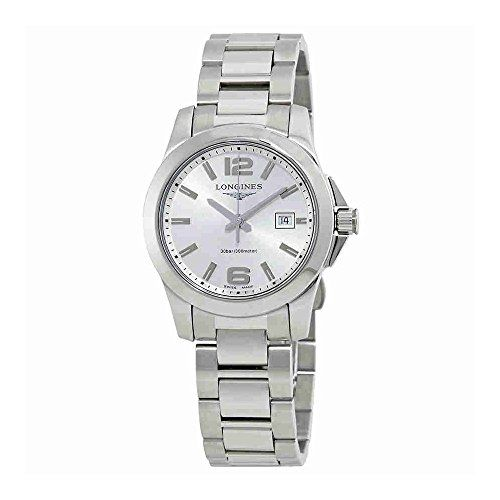 6f9bd22bd1f Longines Conquest Silver Dial Ladies Stainless Steel Watch L33764766    Click image for more details.