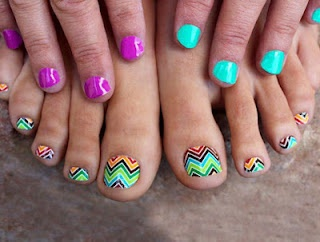 Jamberry Chevron Toes