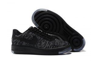 1f0bf8cf995 Mens Womens Nike Air Force 1 Ultra Flyknit Low Black Cool Grey 817420 010  Running Shoes