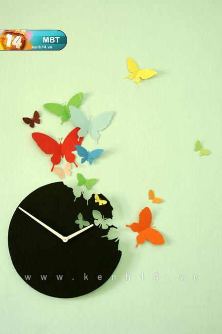 How to DIY Butterfly Clock Wall Art   iCreativeIdeas.com Follow Us on Facebook --> https://www.facebook.com/icreativeideas