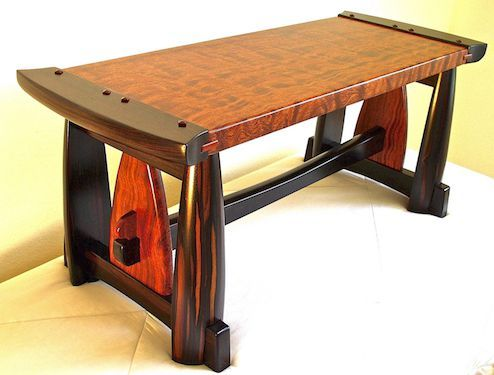 Custom Handmade Bench In Figured Bubinga   Macassar Ebony  Woodworking  FurnitureFine WoodworkingHandmade Wood. 35 best The Art Of Handmade Furniture images on Pinterest