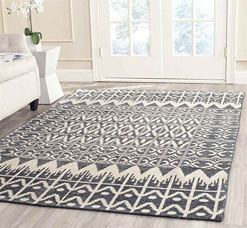 Safavieh Kenya Collection KNY606A Hand-Knotted Charcoal Wool Area Rug, 8 feet by 10 feet (8' x 10')