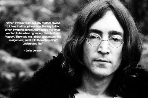 Everything will be okay. JohnLennon quote QOTD music life spoileralert inspiration