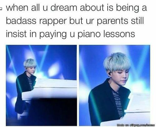BTS SG | omfg. So good. HAHAHA but mm he probs did it to learn music <3