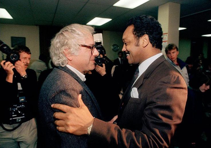 Bernie Sanders meets with Jessie Jackson in... - Historical Times