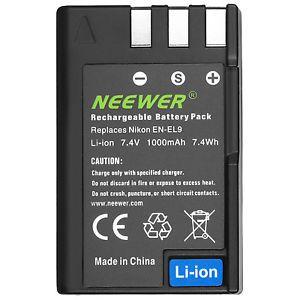 a neewer bateria en el9 para nikon d3x enel9 d40 d40x d60 d3000 d5000