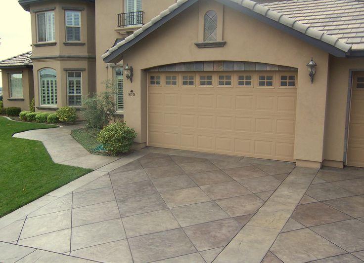 Cement driveway