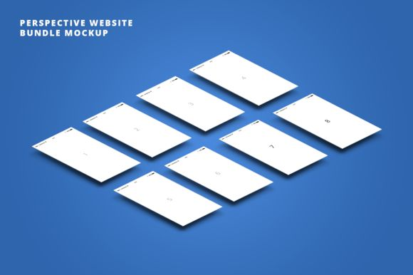 Perspective mobile app bundle mockup by Marcoo on Creative Market