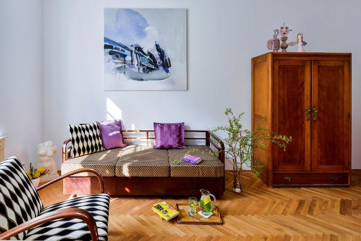retro modern interior, Halabala solitaires