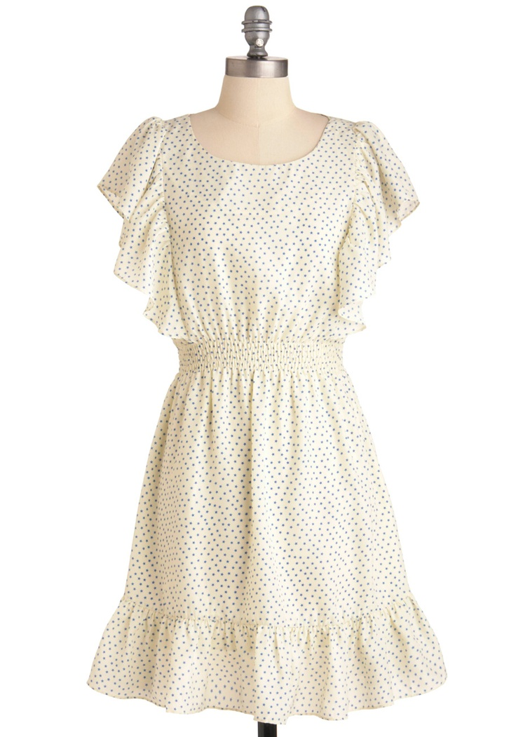 $47.99 adorable! i will save up for this...: Summer Dresses, Polka Dots, Modcloth, Dipper Dresses, Retro Vintage Dresses, Dresses Blue, Dazzle Dipper, White Dresses, Casual Dresses