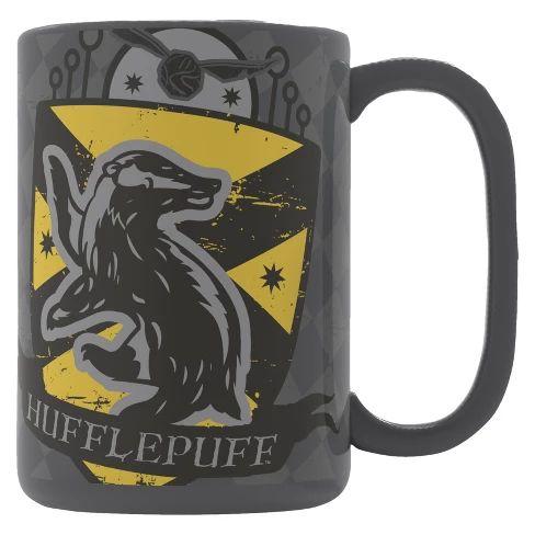 Harry Potter Zak Designs 15oz Ceramic Hufflepuff Mug Gray