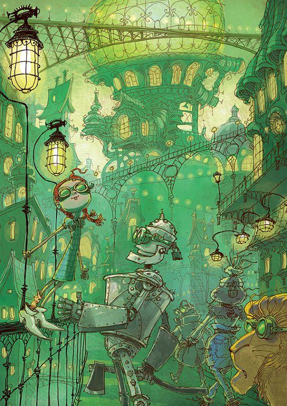 Wizard of oz print Original illustration by by WizardOfOzPrint