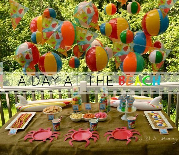 Beach Cupcakes Adorable Tutorial Outdoors Birthday Party Beach Themed Party Beach Birthday Party
