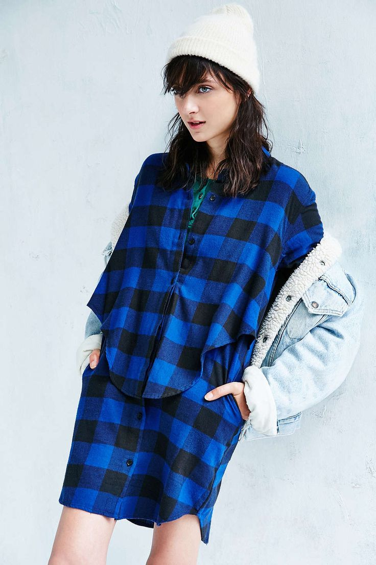 Cheap Monday Raw Flannel Dress - Urban Outfitters