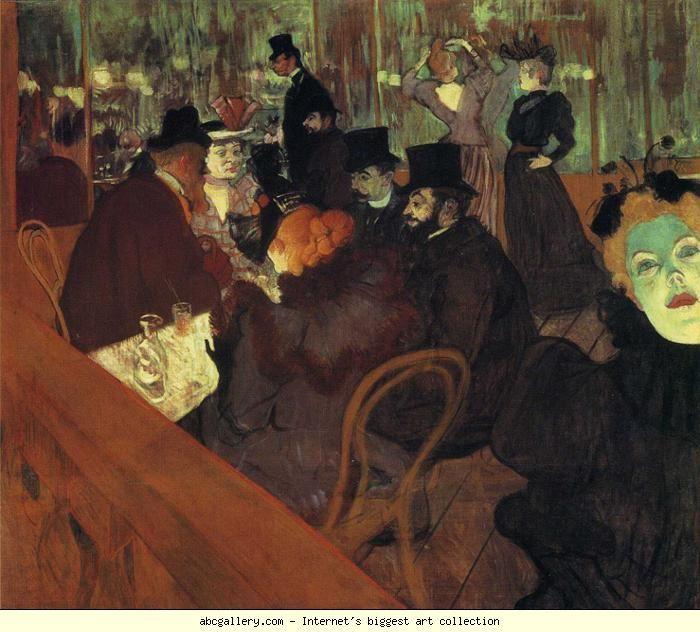 Henri de Toulouse-Lautrec. At the Moulin Rouge. 1892-93. Oil on canvas. 123 x 141 cm. The Art Institute of Chicago, Chicago, IL, USA