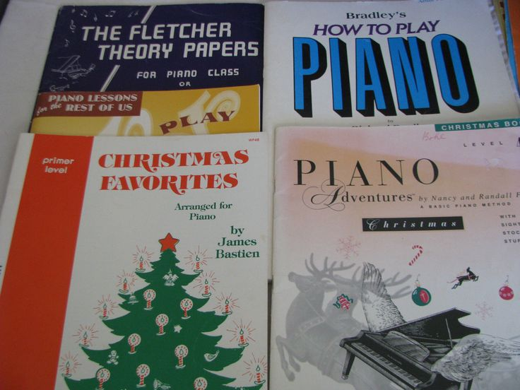 Lot of 5  Old Piano Music Books Bradley Christmas By Ear  Collection of five