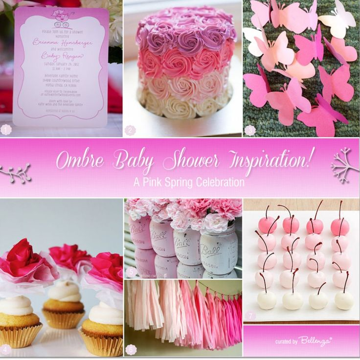 Ombre Pink Baby Shower Ideas For Spring!