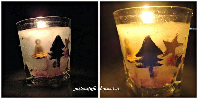DIY Christmas themed Gel wax candle