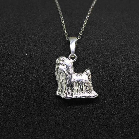 Yorkie jewelry necklace pendant by jewelledfriend. Explore more products on http://jewelledfriend.etsy.com