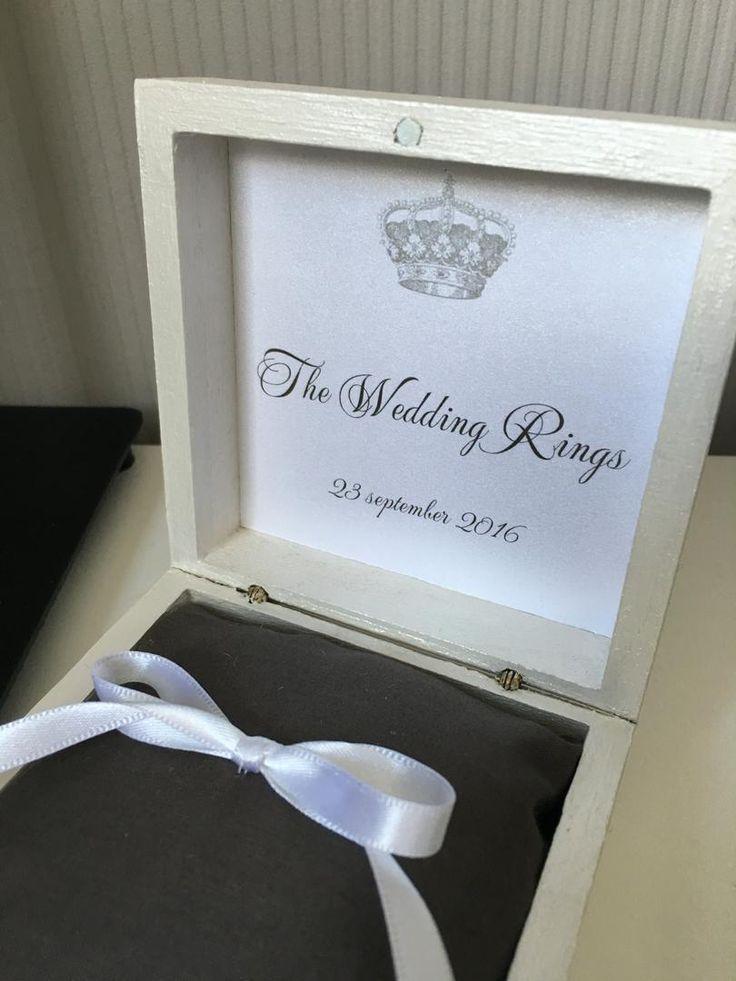 Trouw ringendoosje - Royal Wedding - leuk alternatief voor het standaard ringenkussentje