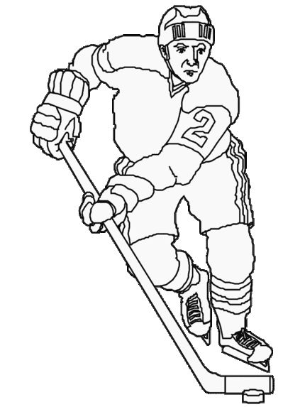 Hockey Colouring Pages For Kids