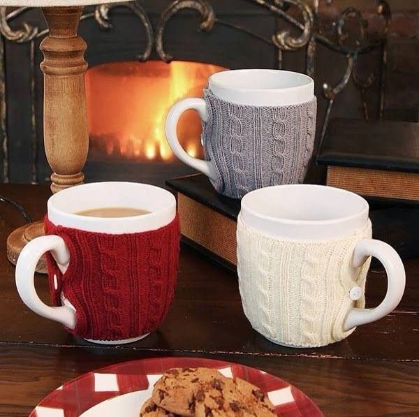 winter warmers...cute little sweaters for your mugs!