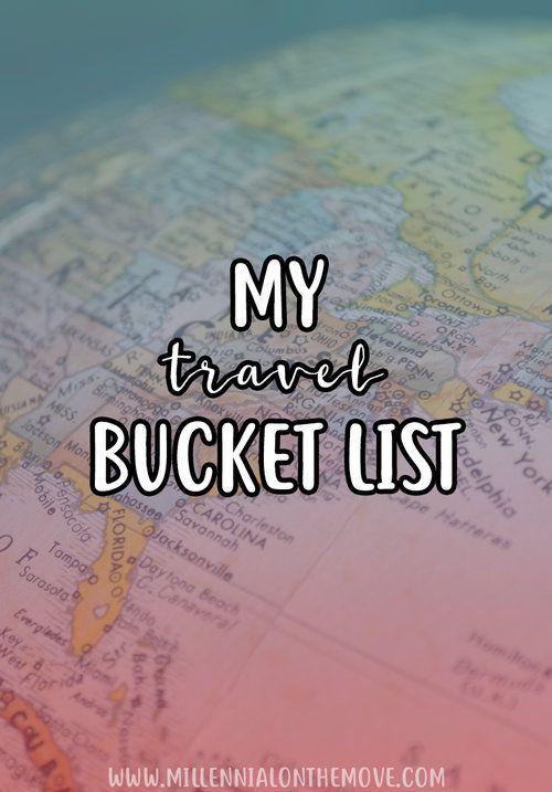 My Travel Bucket List - Millennial on the Move