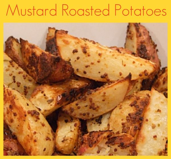 Mustard Roasted Potatoes #recipe (baked potato wedges tossed in lemon ...
