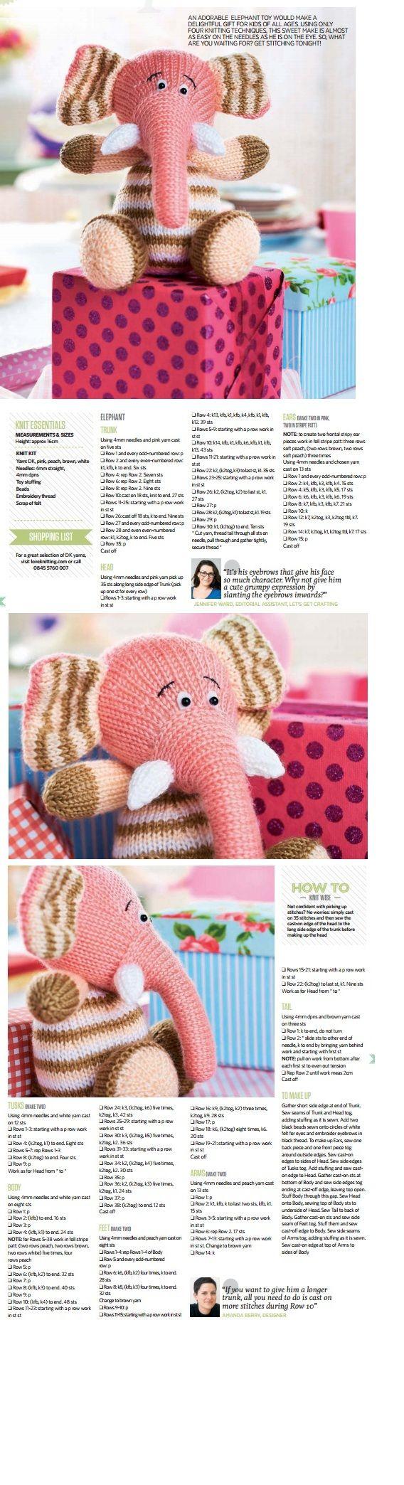 204 best Animal Knitting Patterns images on Pinterest | Free ...