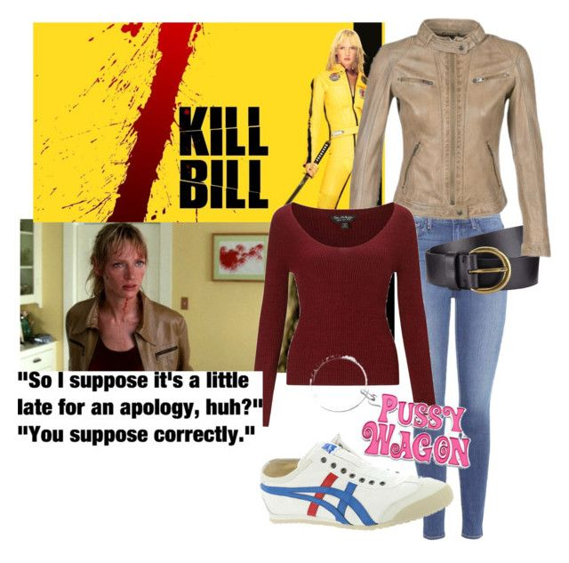 """Kill Bill - Beatrix Kiddo"" by majannsche on Polyvore featuring Veja, Paige Denim, Onitsuka Tiger, John Lewis, Miss Selfridge, killbill and moviefashion"