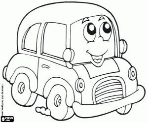 Omalovánka Malé auto na silnici