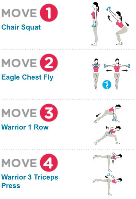 Arm workout combination.
